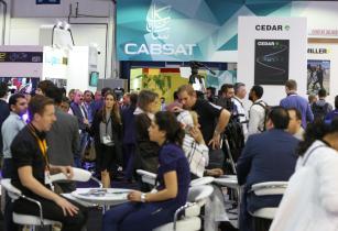 Pixel Power at Cabsat 2017, highlighting developments in satellite industry