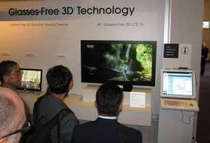 Sony autostereoscopic 3D demonstration