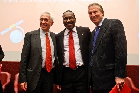 Mr François Rancy, Director BR, ITU; Dr Hamadoun Touré, Secretary General ITU; Mr Malcolm Johnson, TSB Director, ITU