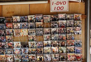 Video piracy store. (Image source: Alexander Klink/Wikimedia Commons)